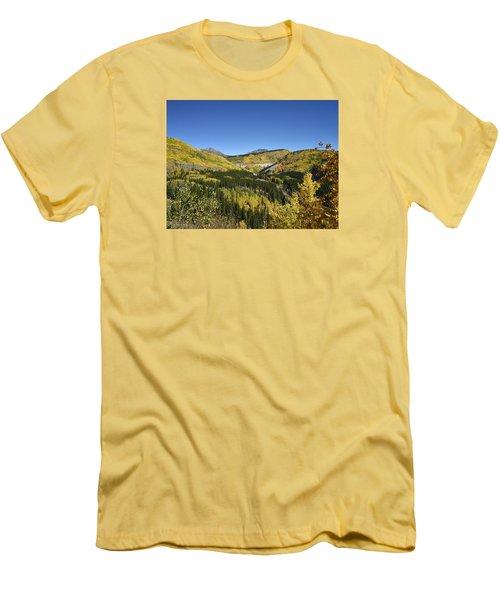 Fall Aspens In San Juan County In Colorado Men's T-Shirt (Athletic Fit)