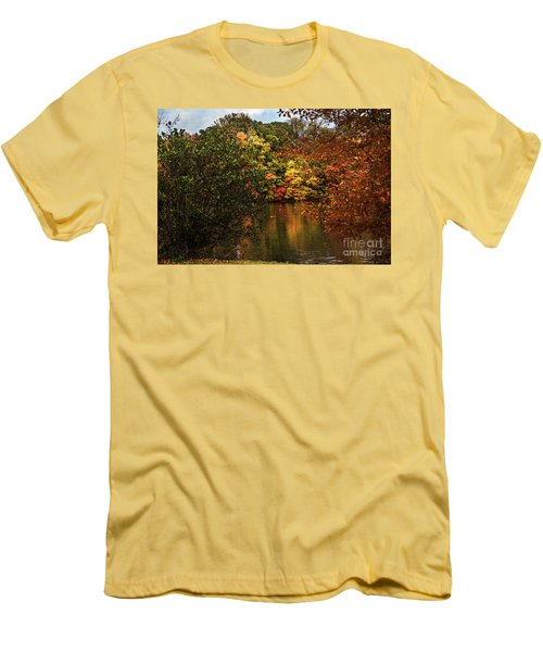 Fall At The Lake Men's T-Shirt (Slim Fit) by Judy Wolinsky