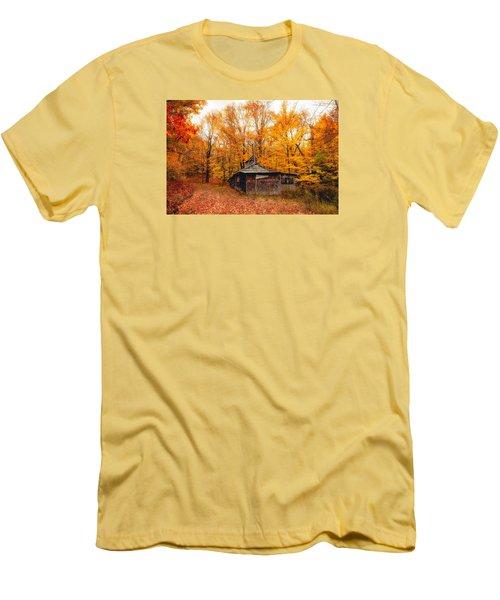 Fall At The Sugar House Men's T-Shirt (Slim Fit) by Robert Clifford