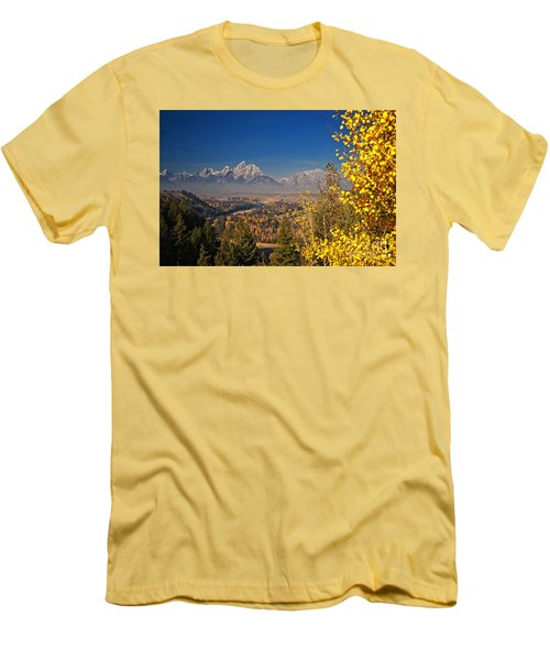 Fall Colors At The Snake River Overlook Men's T-Shirt (Slim Fit) by Sam Antonio Photography