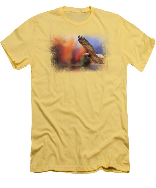 Fall Flight - Bald Eagle Men's T-Shirt (Athletic Fit)
