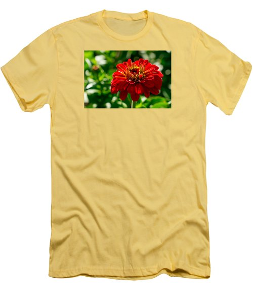 Fall Flower Men's T-Shirt (Slim Fit) by Derek Dean