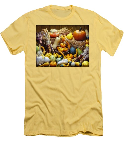 Men's T-Shirt (Slim Fit) featuring the photograph Fall Harvest by Martin Konopacki