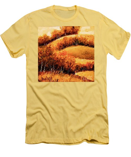 Men's T-Shirt (Slim Fit) featuring the painting Fall by Igor Postash