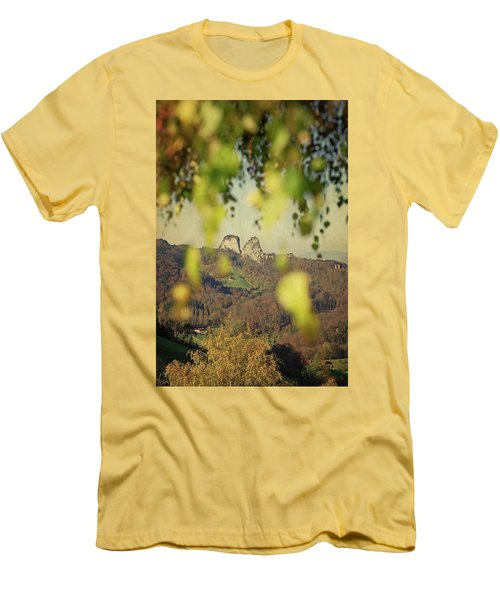 Fall-ing Leaves Men's T-Shirt (Athletic Fit)
