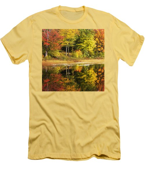 Men's T-Shirt (Slim Fit) featuring the photograph Fall Reflection by Chad Dutson