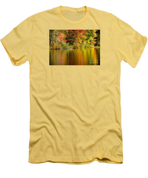 Fall Reflections Men's T-Shirt (Slim Fit) by Alana Ranney