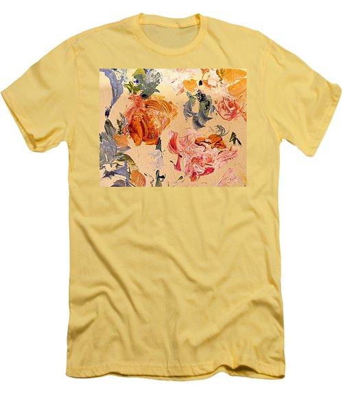 Fall Roses Men's T-Shirt (Slim Fit) by Nancy Kane Chapman