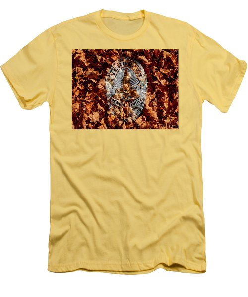 Men's T-Shirt (Slim Fit) featuring the photograph Fallen  by Randy Sylvia