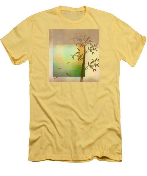 Men's T-Shirt (Slim Fit) featuring the digital art Falling Leaves by Nina Bradica