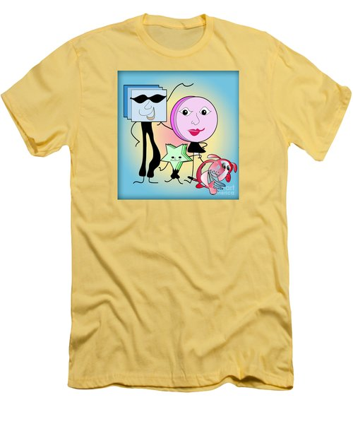 Families Men's T-Shirt (Slim Fit) by Iris Gelbart