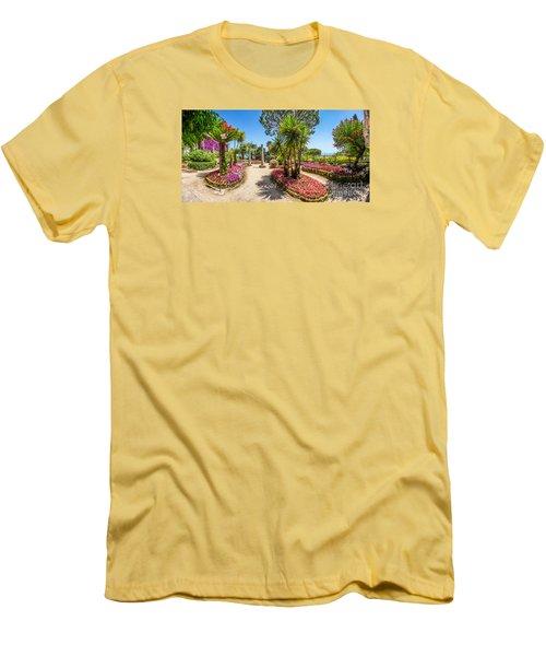 Famous Villa Rufolo Gardens In Ravello At Amalfi Coast, Italy Men's T-Shirt (Athletic Fit)