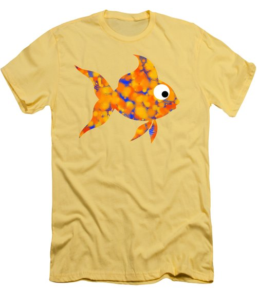 Fancy Goldfish Men's T-Shirt (Slim Fit) by Christina Rollo