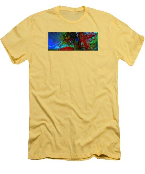 Men's T-Shirt (Slim Fit) featuring the digital art Fanou's Story by Fania Simon