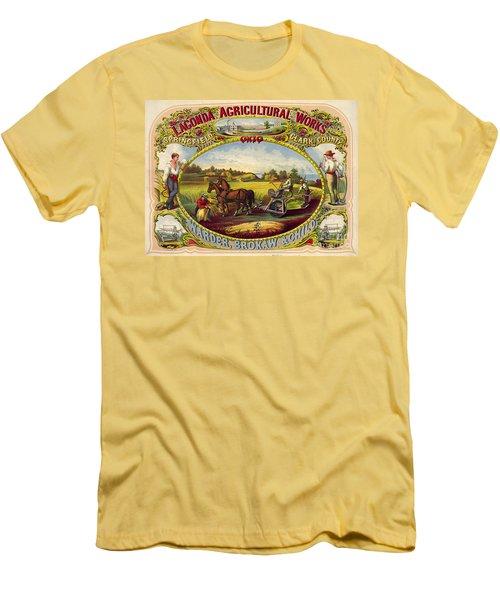 Farm Tools Ad 1859 Men's T-Shirt (Slim Fit) by Padre Art