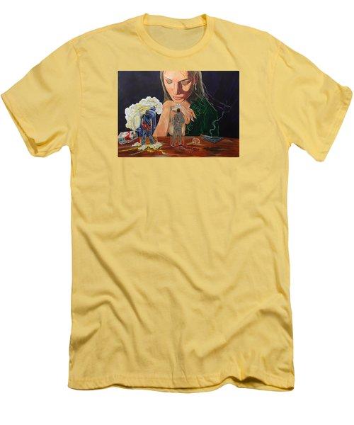 Femina Deciding Men's T-Shirt (Slim Fit) by Lazaro Hurtado