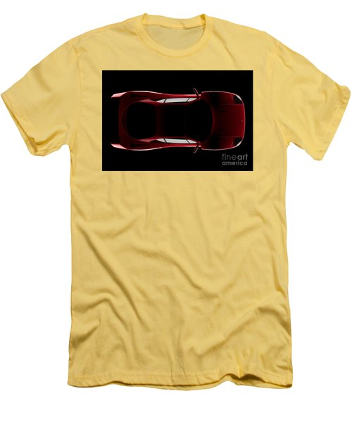 Ferrari F40 - Top View Men's T-Shirt (Athletic Fit)