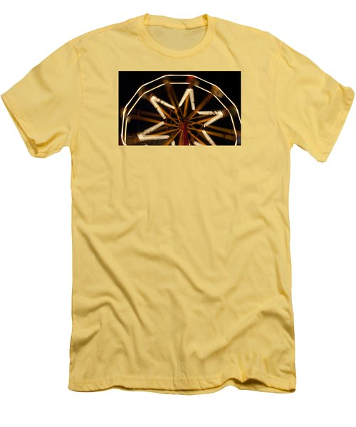 Ferris Wheel At Night Men's T-Shirt (Athletic Fit)