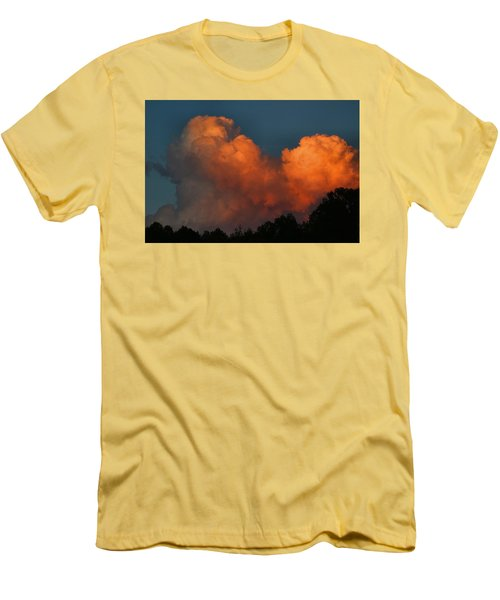 Fiery Cumulus Men's T-Shirt (Slim Fit) by Kathryn Meyer