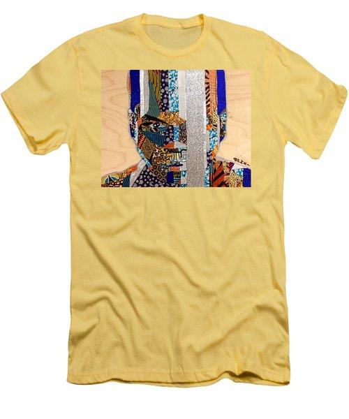 Men's T-Shirt (Slim Fit) featuring the tapestry - textile Finn Star Wars Awakens Afrofuturist  by Apanaki Temitayo M