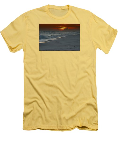 Fire In The Horizon Men's T-Shirt (Slim Fit) by Renee Hardison