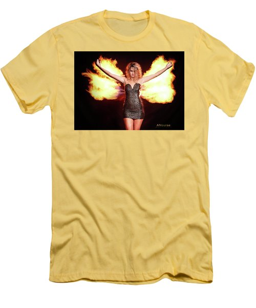 Fire Wings Men's T-Shirt (Slim Fit) by Andrew Nourse