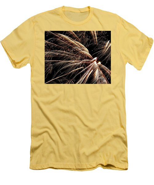 Men's T-Shirt (Athletic Fit) featuring the photograph Fireworks Evolution #0710 by Barbara Tristan