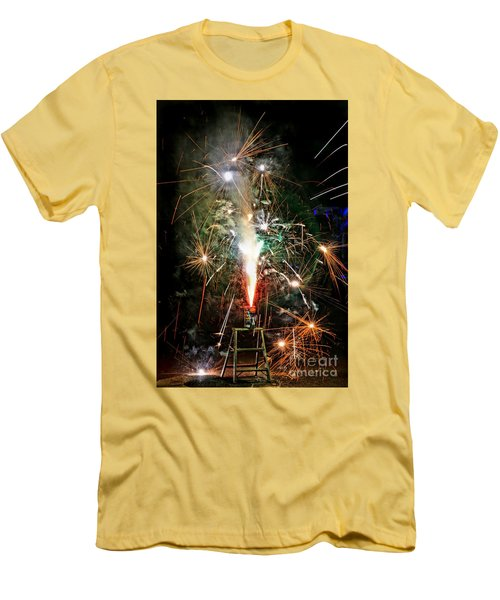 Fireworks Men's T-Shirt (Athletic Fit)