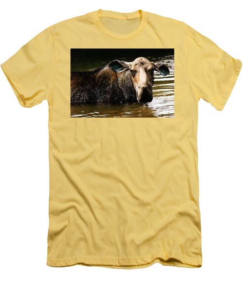 First West Branch Pond Moose Men's T-Shirt (Athletic Fit)