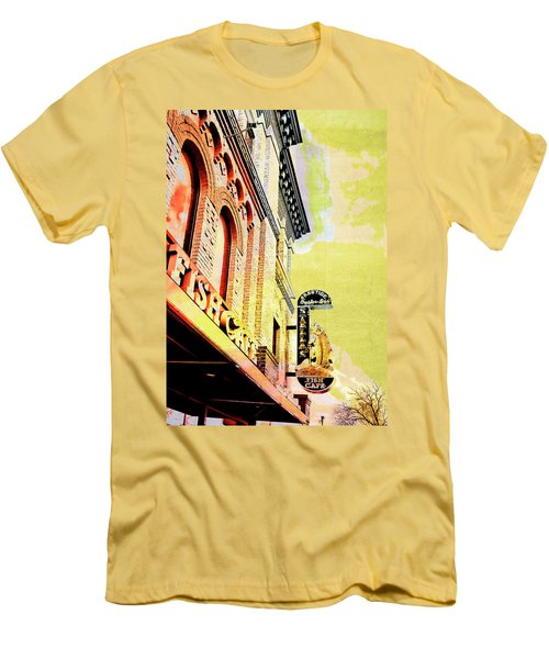 Fish Cafe Men's T-Shirt (Slim Fit) by Susan Stone