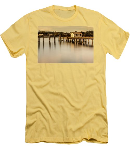 Fishermen Fuel Dock Men's T-Shirt (Slim Fit) by Tony Locke