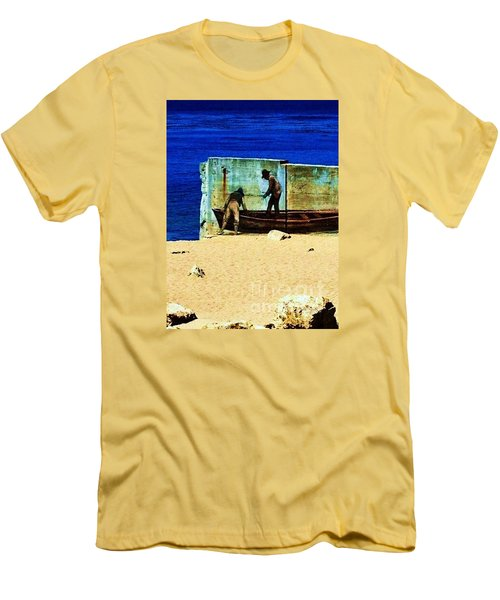 Men's T-Shirt (Slim Fit) featuring the photograph Fishing by Vanessa Palomino