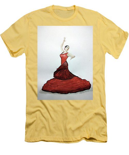 Flamenco Dancer Men's T-Shirt (Athletic Fit)