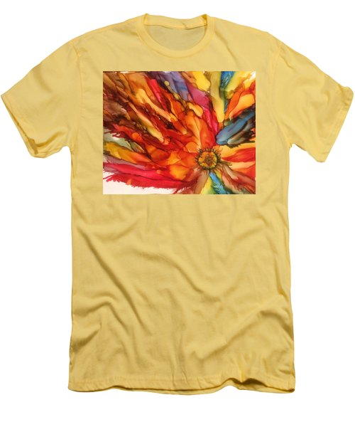 Men's T-Shirt (Slim Fit) featuring the painting Burst by Pat Purdy