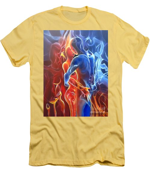 Flaming Lovers Men's T-Shirt (Athletic Fit)