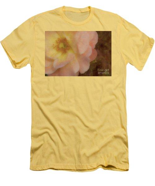Flaming Rose Men's T-Shirt (Slim Fit) by Phil Mancuso