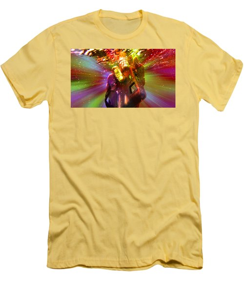 Men's T-Shirt (Slim Fit) featuring the photograph Flash Of Light by RKAB Works