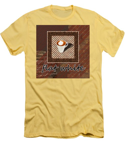 Men's T-Shirt (Athletic Fit) featuring the photograph Flat White - Coffee Art by Anastasiya Malakhova