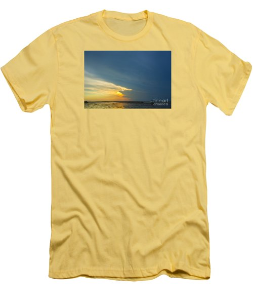 Flats Of Brewster, Cape Cod Men's T-Shirt (Slim Fit) by Diane Diederich