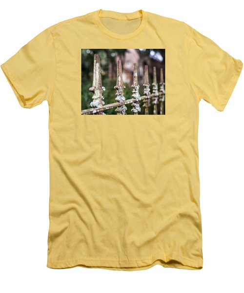Fleur De Lis Finial Men's T-Shirt (Slim Fit) by Andy Crawford