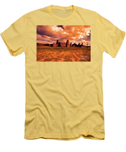 Flinders Ranges Ruins Men's T-Shirt (Slim Fit) by Douglas Barnard