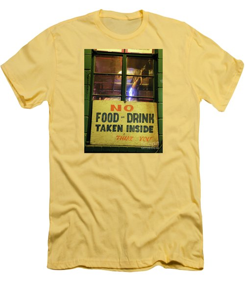 Men's T-Shirt (Slim Fit) featuring the photograph Floores Country Store And Dance Hall by Joe Jake Pratt