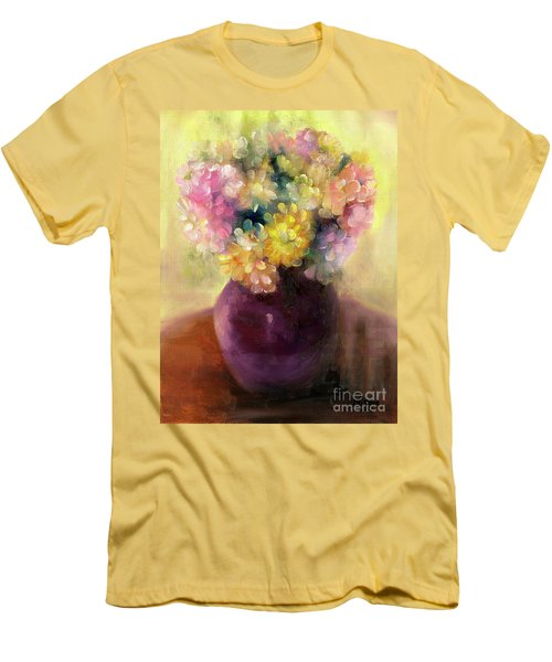 Men's T-Shirt (Athletic Fit) featuring the painting Floral Oil Sketch by Marlene Book