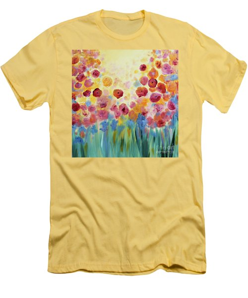 Floral Splendor II Men's T-Shirt (Athletic Fit)