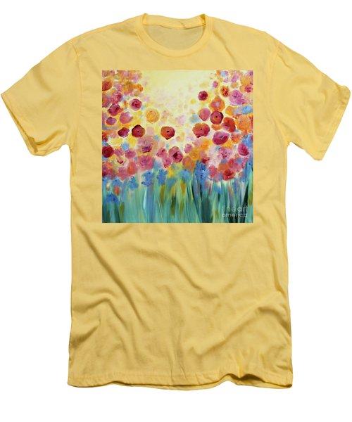 Floral Splendor II Men's T-Shirt (Athletic Fit)