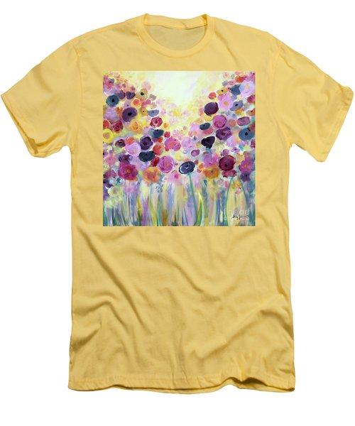 Floral Splendor IIi Men's T-Shirt (Athletic Fit)