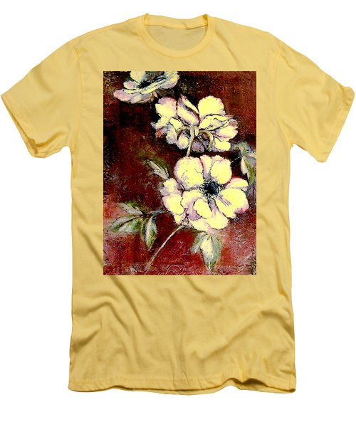 Floral Watercolor Painting Men's T-Shirt (Athletic Fit)
