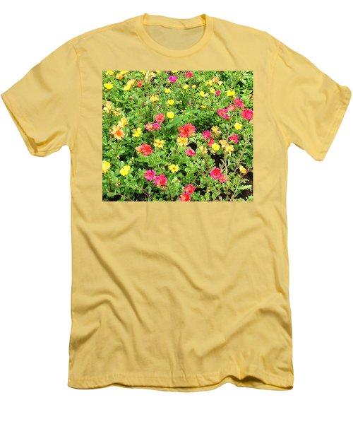 Men's T-Shirt (Slim Fit) featuring the photograph Flower Garden by Karen Nicholson