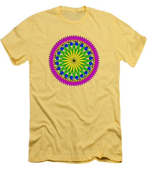 Flower Mandala By Kaye Menner Men's T-Shirt (Slim Fit) by Kaye Menner