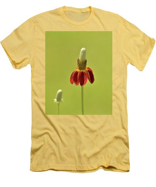 Flower  Men's T-Shirt (Slim Fit) by Nancy Landry